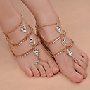 Buy Women's Anklet/Bracelet Iron(nickel plated) Rhinestones Alloy Fashion Costume Jewelry Drop Daily Outdoor clothing Going