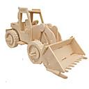 ieftine 3D Puzzle-Puzzle 3D Puzzle Modele de Lemn Mașină Simulare Reparații Lemn Clasic Vehicul de Construcție Pentru copii Adulți Unisex Cadou