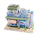 ieftine Cârlige Pescuit-Puzzle 3D Puzzle Modelul de hârtie Μοντέλα και κιτ δόμησης Casă Arhitectură Înghețată 3D Reparații Hârtie de înaltă calitate Clasic