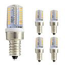 رخيصةأون مصابيح خيط ليد-5pcs 3W 260lm E12 أضواء LED ذرة T 64 الخرز LED SMD 3014 أبيض دافئ أبيض كول 220-240V