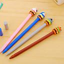 tanie Długopisy i ołówki-Gel Pen Długopis Pióra żelowe Długopis Czarny Atrament Kolory For Przybory szkolne Artykuły biurowe Paczka 12