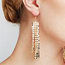 abordables Boucles d'Oreille-Femme Diamant synthétique Glands Long Pendentif - Large, Personnalisé, Luxe Or / Argent Pour Regalos de Navidad Mariage Anniversaire