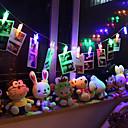 hesapli LED Şerit Işıklar-1m Dizili Işıklar 10 LED'ler Dip Led Sıcak Beyaz / RGB / Beyaz Su Geçirmez 1pc / IP65