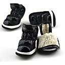 hesapli Köpek Giyim ve Aksesuarları-Köpek Ayakkabılar ve Botlar Sıcak Tutma / Kar Botları Solid Fuşya / Kırmzı / Mavi Evcil hayvanlar için