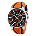 levne Pánské-Pánské Sportovní hodinky Vojenské hodinky Náramkové hodinky japonština Křemenný Silikon Černá / Modrá / Červená 50 m Voděodolné Kalendář kreativita Analogové Klasické Na běžné nošení Skládaný Módní -