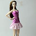 رخيصةأون ديكور الحائط-دمية اللباس الفساتين إلى Barbie موضة الأزهار النباتية الكتان / القطن مزيج أقمشة غير محبوكة دانتيل فستان إلى لفتاة دمية لعبة