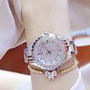 ieftine Ceasuri Damă-Pentru femei Ceasuri de lux Ceas Casual Ceas Brățară Quartz Oțel inoxidabil Argint / Auriu Rezistent la Apă Creative Luminos Analog femei Charm Lux Casual Atârnat - Auriu Argintiu Un an Durată de