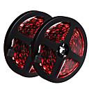 baratos Lâmpadas de Foco de LED-HKV 10m Faixas de Luzes LED Flexíveis 300 LEDs 5050 SMD RGB Cortável / Auto-Adesivo 12 V