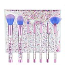 hesapli Makyaj ve Tırnak Bakımı-7 adet Makyaj fırçaları Profesyonel Fırça Setleri / Allık Fırçası / Far Fırçası Sentetik Saç Kristal Plastik