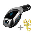 cheap Bluetooth Car Kit/Hands-free-X5 Car Bluetooth Kit Wireless Fm Transmitter Radio Adapter FM Modulator Handsfree Music Mp3 USB Player Audio For Smartphone