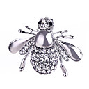 cheap Brooches-Crystal Brooches - Silver Plated, Gold Plated Bee, Animal Classic, Fashion Brooch Gold / Silver For Gift / Daily