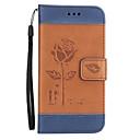 hesapli Küpeler-Pouzdro Uyumluluk Apple iPhone X iPhone 8 iPhone 8 Plus Kart Tutucu Cüzdan Satandlı Flip Süslü Tam Kaplama Kılıf Çiçek Sert PU Deri için