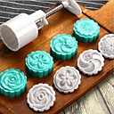 hesapli Fenerler-5 adet yuvarlak ay kek kalıbı 1 el 5 pullar 50g ekmek maker pasta ile basın