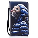 cheap Cases / Covers for Huawei-Case For Huawei P10 Lite Wallet / Card Holder / with Stand Full Body Cases Cat Hard PU Leather for P10 Lite / P8 Lite (2017) / Honor 9