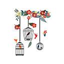 hesapli Dekorasyon Etiketleri-Hayvanlar Çiçek/Botanik Moda Duvar Etiketler Uçak Duvar Çıkartmaları Dekoratif Duvar Çıkartmaları Malzeme Ev dekorasyonu Duvar Çıkartması