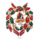 cheap Brooches-Women's Brooches - Rhinestone Fashion Brooch Red For Christmas / Street