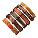 cheap Bracelets-Men's Women's Leather Bracelet - Leather Bohemian, Simple Style Bracelet Brown For Casual Going out