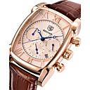 Χαμηλού Κόστους Ανδρικά ρολόγια-Ανδρικά Ρολόι Καρπού Ιαπωνικά Χαλαζίας Γνήσιο δέρμα Καφέ 30 m Ημερολόγιο Χρονόμετρο Απίθανο Αναλογικό Πολυτέλεια Καθημερινό Μοντέρνα - Λευκό Χρυσό Τριανταφυλλί