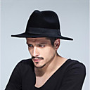 cheap Men's Hats-Unisex Traditional / Vintage Fedora Hat - Solid Colored Pure Color