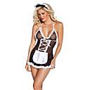 ieftine Costume Sexy-Pentru femei Costume menajeră Asistente Sex Costume Cosplay Bloc Culoare Fustă Jartiere / Spandex