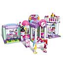 hesapli Anahtarlar & Soketler-ENLIGHTEN Legolar Askeri bloklar Modely 487 pcs Mimari City Güzellik Dükkanı Yeni Dizayn Kendin-Yap Klasik Klasik & Zamansız Şık & Modern Genç Erkek Genç Kız Oyuncaklar Hediye