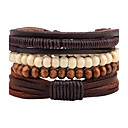 cheap Bracelets-Men's Women's Bead Bracelet Leather Bracelet - Leather, Wood Bohemian Bracelet Jewelry Coffee For Casual Going out