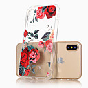 저렴한 아이폰 케이스-케이스 제품 Apple iPhone X / iPhone 8 / iPhone 8 Plus 울트라 씬 / 투명 / 패턴 뒷면 커버 꽃장식 소프트 TPU 용 iPhone X / iPhone 8 Plus / iPhone 8