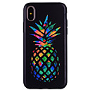 voordelige Galaxy S-serie hoesjes / covers-hoesje Voor Apple iPhone X iPhone 8 Patroon Achterkant Fruit Zacht Siliconen voor iPhone X iPhone 8 Plus iPhone 8 iPhone 7 Plus iPhone 7
