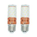 voordelige LED-maïslampen-brelong 2 stks 12w e27 60led smd2835 maïs licht ac220v warm / wit wit / dubbel licht kleur
