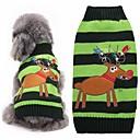 Недорогие Игрушки для кошек-Кошка Собака Свитера Одежда для собак Северный олень Зеленый Акриловые волокна Костюм Для домашних животных Муж. Жен. Очаровательный Мода