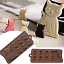 hesapli Saç Takıları-Güzel kedi yavrusu fondan sakız yapıştırmak için 7 kavite silikon kalıp çikolata çerez kek araçları