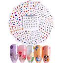 preiswerte Make-up & Nagelpflege-50 pcs 3D Nails Nagelaufkleber Aufkleber Abziehbilder Nagel Kunst Maniküre Pediküre Modisch Alltag / 3D Nagel Sticker
