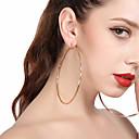 preiswerte Ohrringe-Damen Tropfen-Ohrringe Kreolen - überdimensional Gold / Silber Für Party Strasse