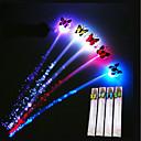 preiswerte Innendekoration-glühen blinkender Haarclipblitz führte Zopfshow Parteidekoration bunte leuchtende Flechte optische Faser Drahthaarnadel