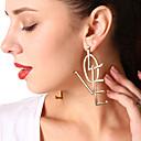 abordables Bracelets-Femme Monogrammes Boucle d'oreille - Forme de Lettres Personnalisé, Mode, Inspiration Or / Argent Pour Soirée / Occasion spéciale / Quotidien / énorme