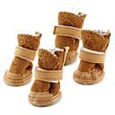 preiswerte Bekleidung & Accessoires für Hunde-Hund Schuhe und Stiefel Schneestiefel warm halten Modisch Solide Braun Rosa Für Haustiere