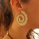 preiswerte Ohrringe-Damen Tropfen-Ohrringe / Kreolen - Welle, Kreis verdrehen Retro, Europäisch, Ethnisch Gold / Silber Für Party / Karnival