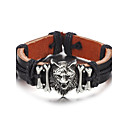 voordelige Armbanden-Heren Lederen armbanden - Leder Eenvoudig, Hip-hop Armbanden Zwart / Bruin Voor Dagelijks / Causaal