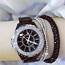 ieftine Ceasuri Damă-Pentru femei femei Ceas de Mână Diamond Watch ceasul cu ceas Japoneză Quartz Ceramică Negru / Alb 30 m Ceas Casual Analog Charm Bling bling - Alb Negru / Oțel inoxidabil