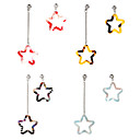 cheap Brooches-Women's Mismatched Drop Earrings / Mismatch Earrings - Resin Star Sweet Red / Light Blue / Rainbow For Party / Gift