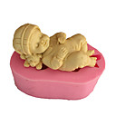 cheap Bakeware-Bakeware tools Silicone Eco-friendly 3D For Cake For Cookie For Pie Sleeping Baby Mold 1pc