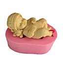 hesapli Fırın Araçları ve Gereçleri-3d uyku bebek sabun kalıp fondan kalıp kek dekorasyon kalıp