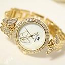 preiswerte Damenuhren-Damen damas Armbanduhr Japanisch 30 m Edelstahl Band Analog Silber / Gold - Gold Silber