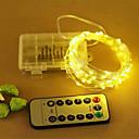 hesapli LED Şerit Işıklar-10m Dizili Işıklar 100 LED'ler SMD 0603 Sıcak Beyaz / Serin Beyaz / RGB Uzaktan Kontrol <5 V 1pc / IP65