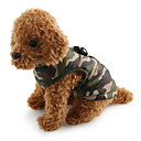 cheap Brooches-Dog Coat Vest Dog Clothes Camouflage Red Green Blue Pink Camouflage Color Cotton Costume For Pets Men's Women's Casual/Daily