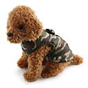 hesapli Makyaj ve Tırnak Bakımı-Köpek Paltolar Vesta Köpek Giyimi kamuflaj Kırmzı Yeşil Mavi Pembe Kamuflaj Rengi Pamuk Kostüm Evcil hayvanlar için Erkek Kadın's