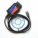 hesapli Teşhis Araçları ve Ekipmanları-bilgisayar usb kablosu sürüş oto arıza teşhis cihazı ELM327 OBD2 hatları