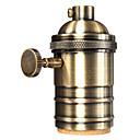 ieftine Baze de Lampe-1 buc. Soclu lumină e26 / e27 soclu metalic cu soclu metalic cu buton de pornire / oprire vintage lampă pendant edison pendant diy
