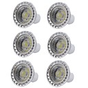 cheap Magnifiers-6pcs 5W 400lm GU10 LED Spotlight 1 LED Beads COB Dimmable LED Light Warm White Cold White 110-130V 220-240V