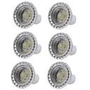 baratos Lâmpadas de Foco de LED-6pcs 5W 400lm GU10 Lâmpadas de Foco de LED 1 Contas LED COB Regulável Luz LED Branco Quente Branco Frio 110-130V 220-240V